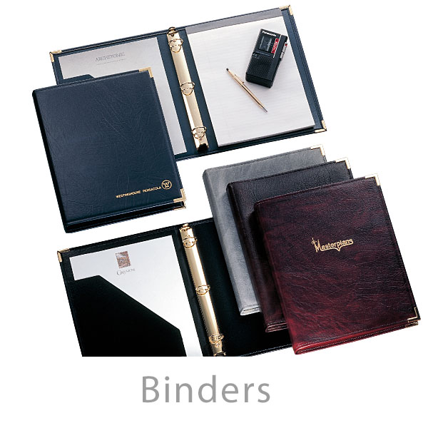 Business Ring Binders - Deluxe and Regal imprinted promotional products
